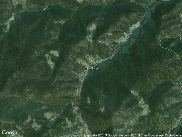 Сателитна карта на Люлка