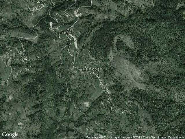 Сателитна карта на Милково