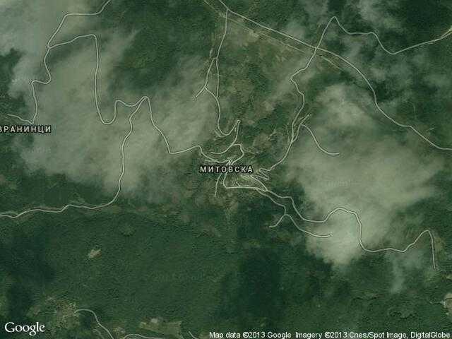 Сателитна карта на Митовска