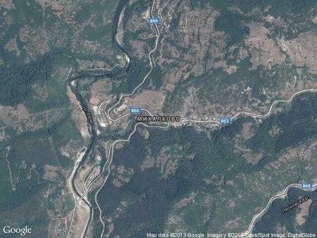 Сателитна карта на Михалково
