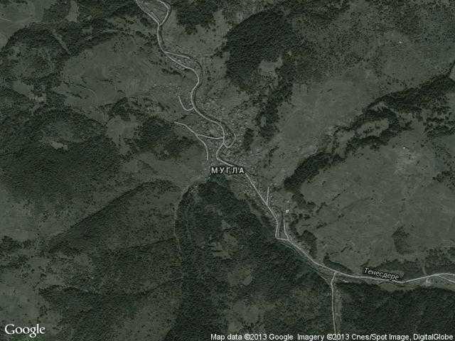 Сателитна карта на Мугла