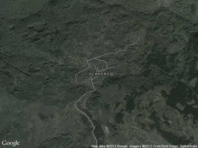 Сателитна карта на Осиково