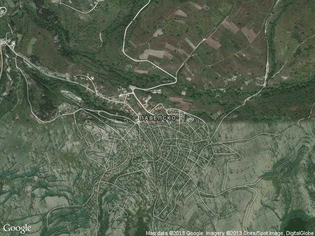 Сателитна карта на Павелско