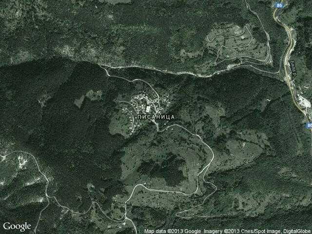 Сателитна карта на Писаница
