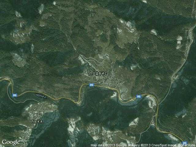 Сателитна карта на Подвис