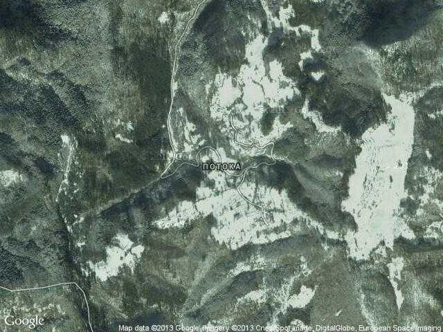 Сателитна карта на Потока