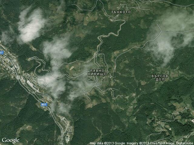 Сателитна карта на Равно нивище