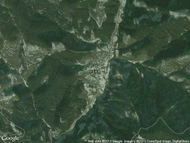 Сателитна карта на Река