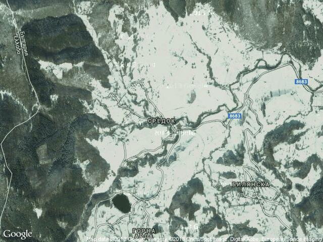 Сателитна карта на Средок