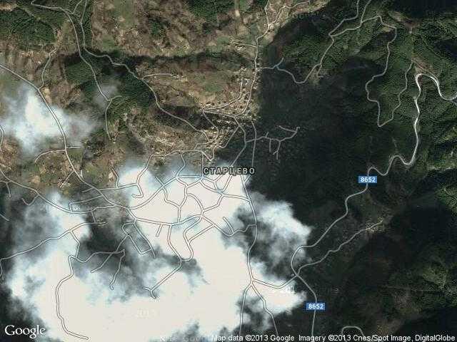 Сателитна карта на Старцево
