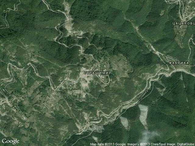 Сателитна карта на Страшимир