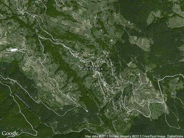Сателитна карта на Стърница