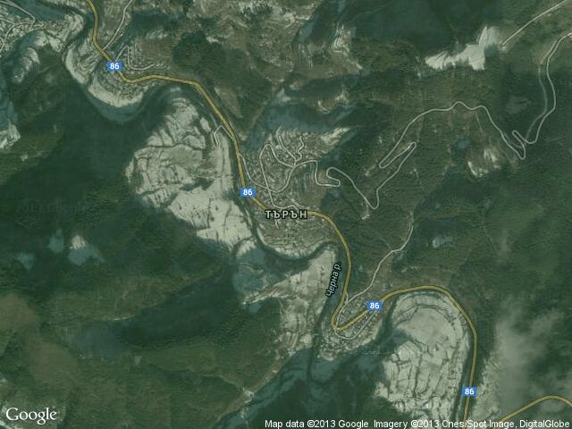 Сателитна карта на Търън