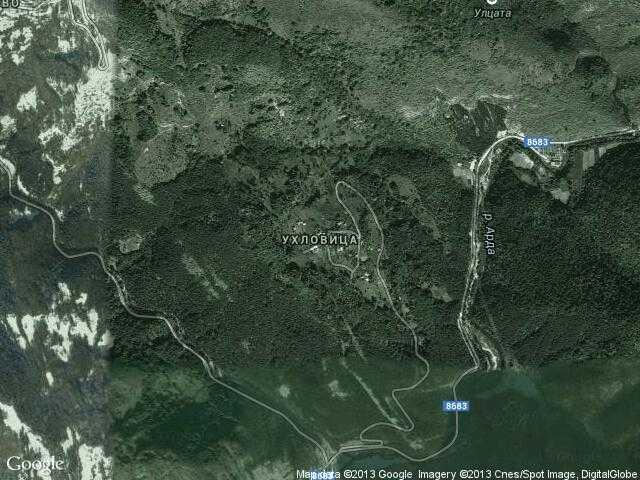 Сателитна карта на Ухловица