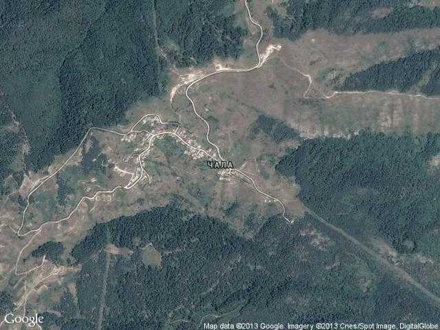 Сателитна карта на Чала