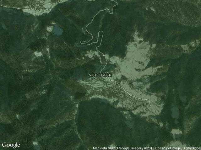 Сателитна карта на Чеплетен