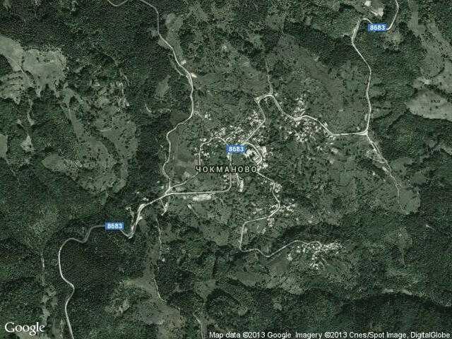 Сателитна карта на Чокманово