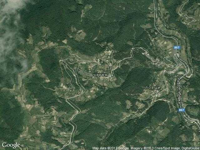 Сателитна карта на Чурка
