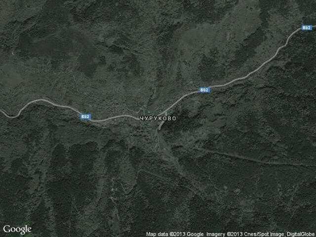 Сателитна карта на Чуруково