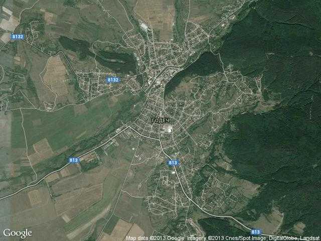 Сателитна карта на Годеч