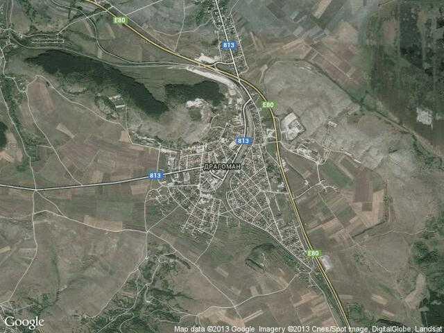 Сателитна карта на Драгоман
