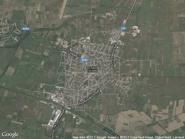 Сателитна карта на Елин Пелин