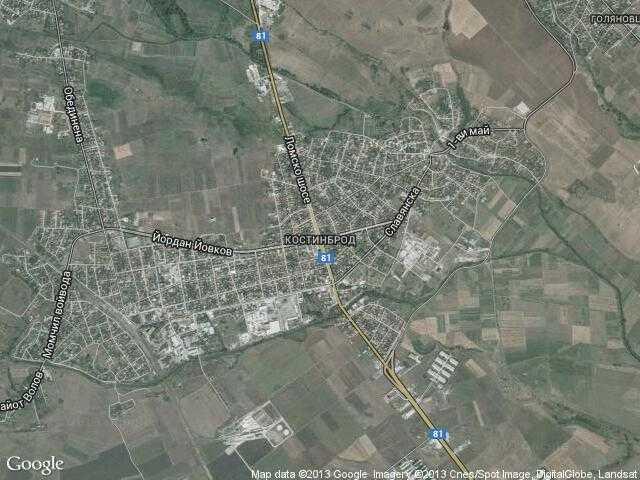 Сателитна карта на Костинброд