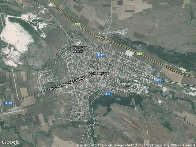 Сателитна карта на Сливница