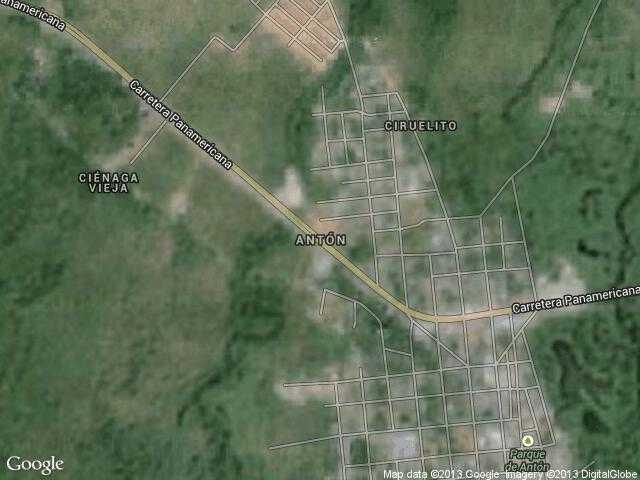 Сателитна карта на Антон