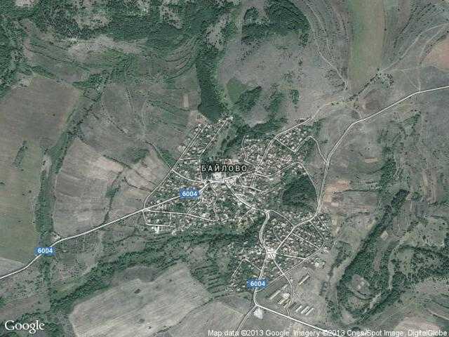 Сателитна карта на Байлово