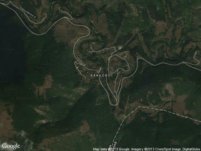 Сателитна карта на Бакьово