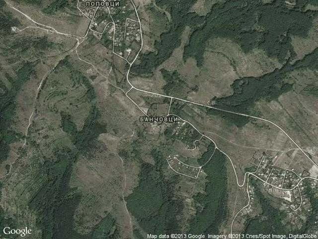 Сателитна карта на Банчовци