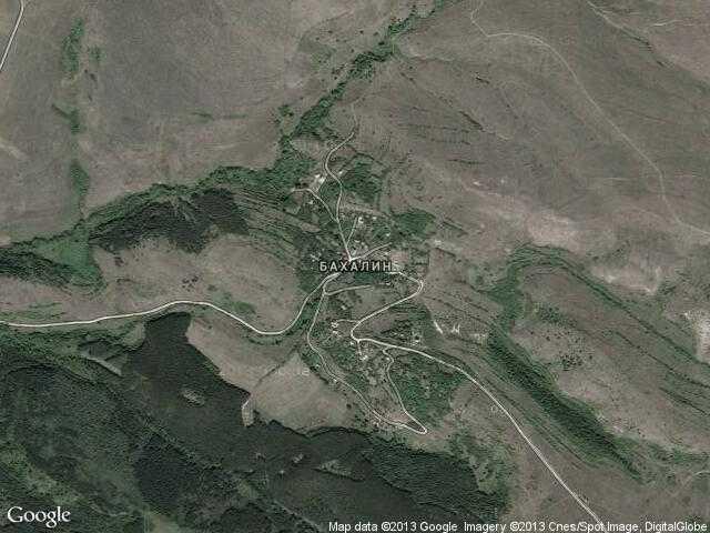 Сателитна карта на Бахалин