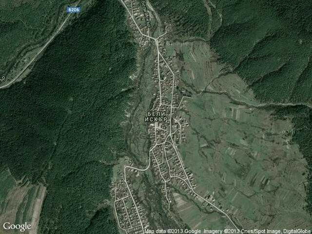 Сателитна карта на Бели Искър