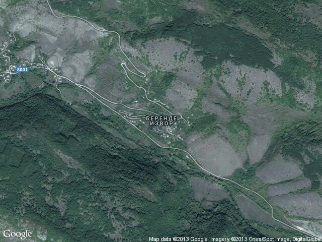Сателитна карта на Беренде извор