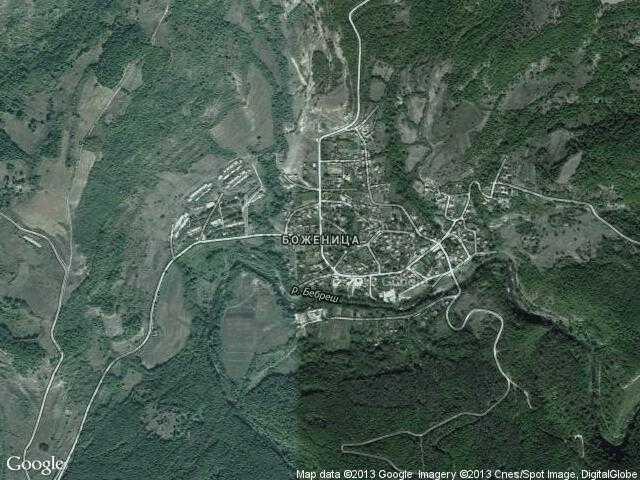 Сателитна карта на Боженица