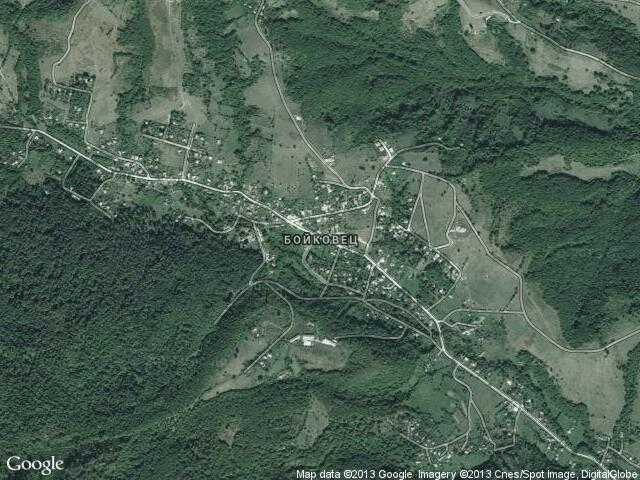 Сателитна карта на Бойковец