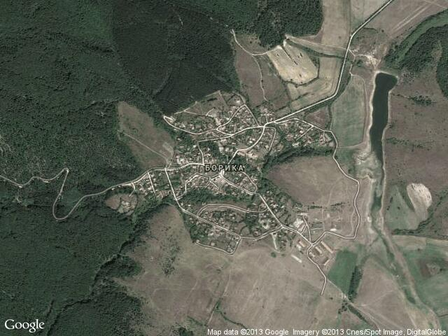 Сателитна карта на Борика