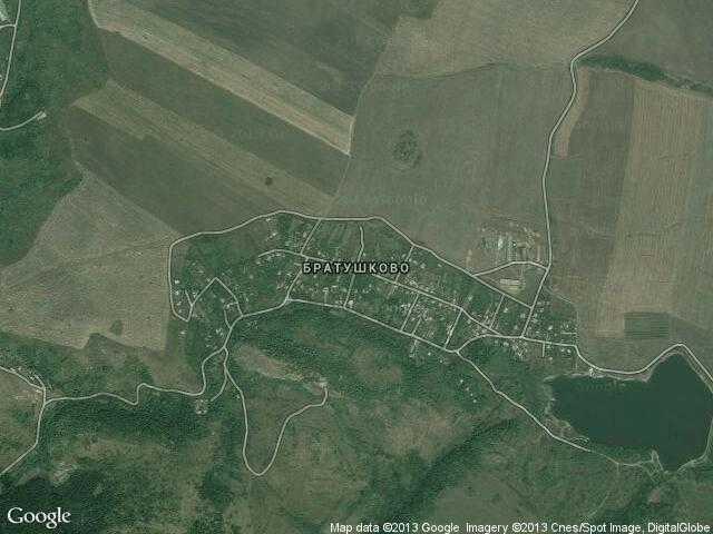 Сателитна карта на Братушково