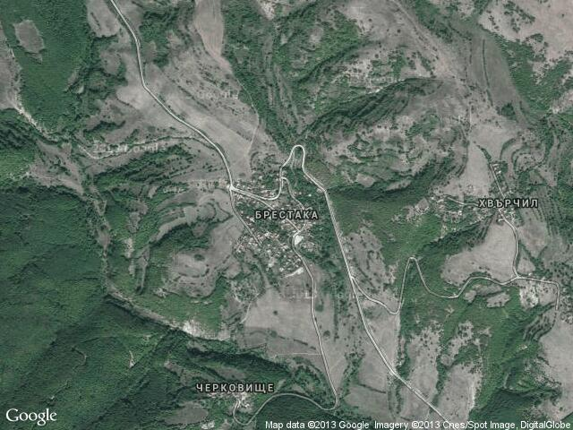 Сателитна карта на Брестака