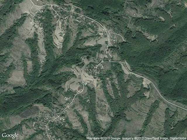Сателитна карта на Бърдо