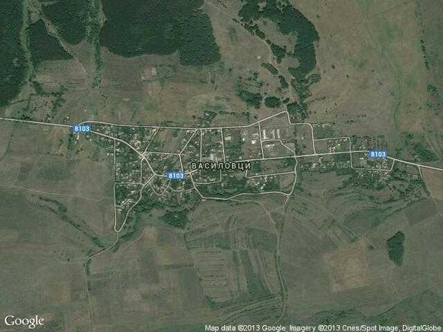 Сателитна карта на Василовци