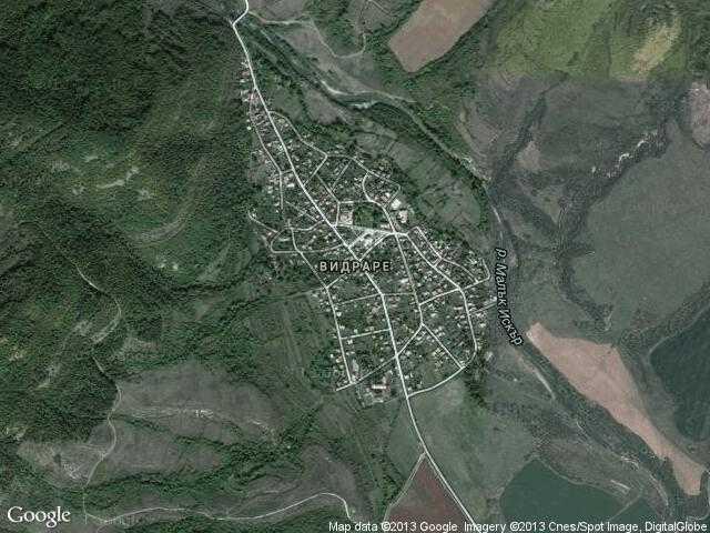 Сателитна карта на Видраре