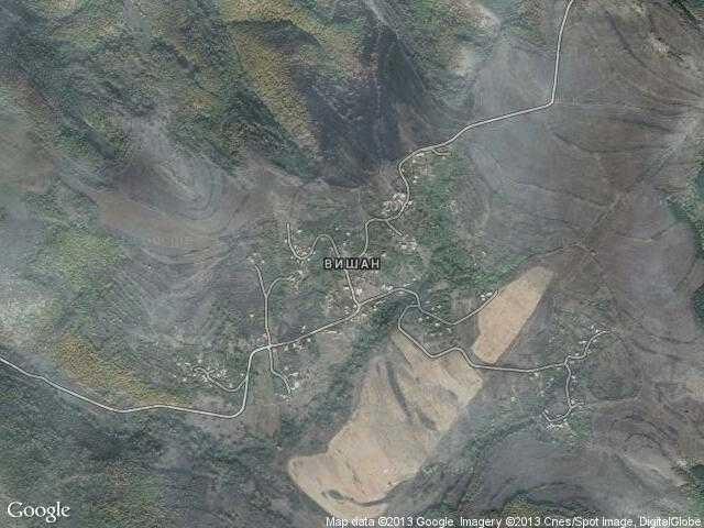 Сателитна карта на Вишан