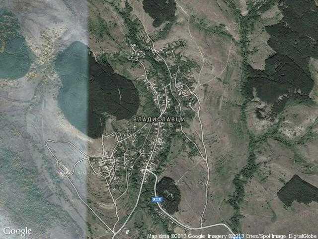Сателитна карта на Владиславци