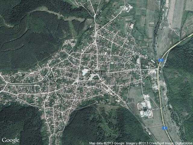 Сателитна карта на Врачеш