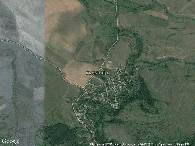 Сателитна карта на Върбница