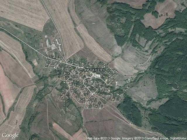 Сателитна карта на Гайтанево