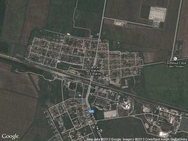 Сателитна карта на Гара Елин Пелин