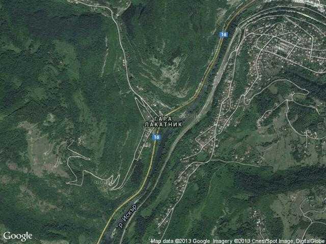 Сателитна карта на Гара Лакатник
